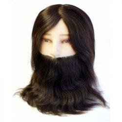 Hair Tools Férfi szakállas gyakorló babafej 100%-os humán hajjal.