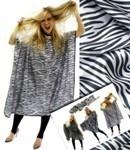 Fodrász Zebra Mintás Beterítő Kendő