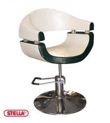 STELLA Black&White Selective SX-2107 Hidraulikus fodrász szék fehér-fekete