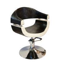 STELLA Black&White Selective SX-2107 Hidraulikus fodrász szék fekete-fehér